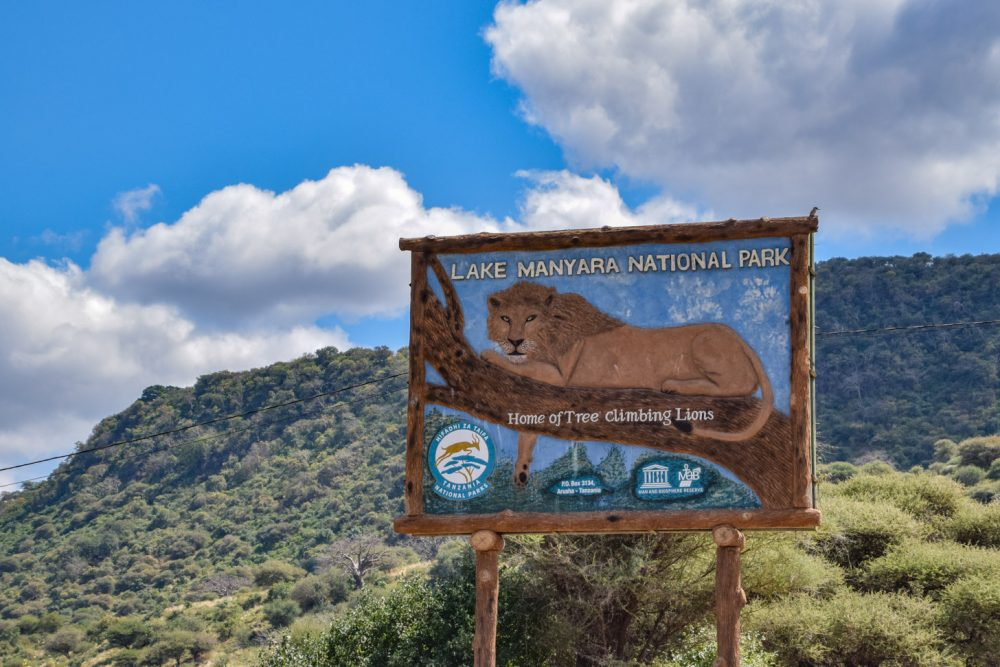 De entree van Lake Manyara