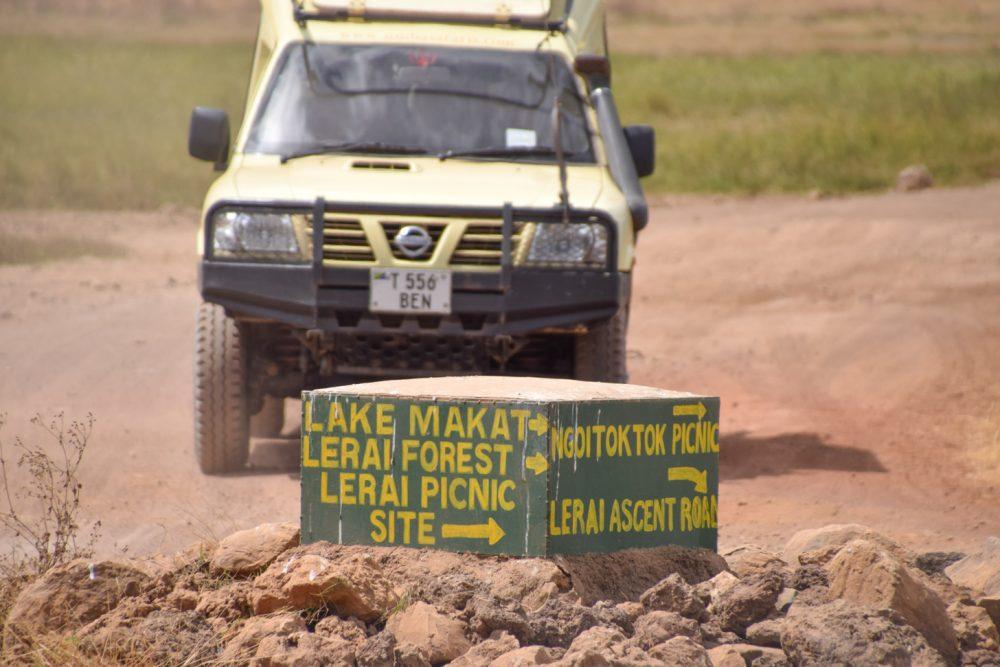 De 4x4 is ideaal als vervoermiddel in Tanzania